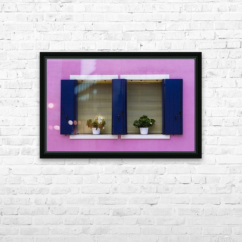 Windows in Burano HD Sublimation Metal print with Decorating Float Frame (BOX)