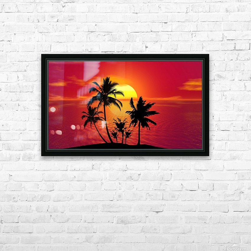 tropical 1651423 HD Sublimation Metal print with Decorating Float Frame (BOX)