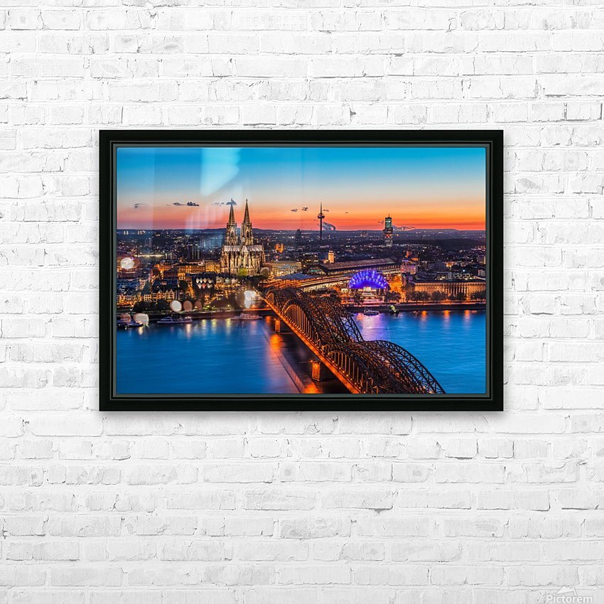 COLOGNE 03 HD Sublimation Metal print with Decorating Float Frame (BOX)