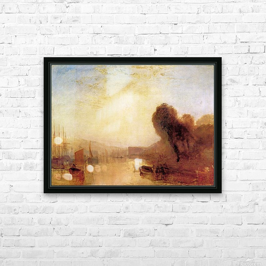Regatta at Cowes Castle by Joseph Mallord Turner HD Sublimation Metal print with Decorating Float Frame (BOX)