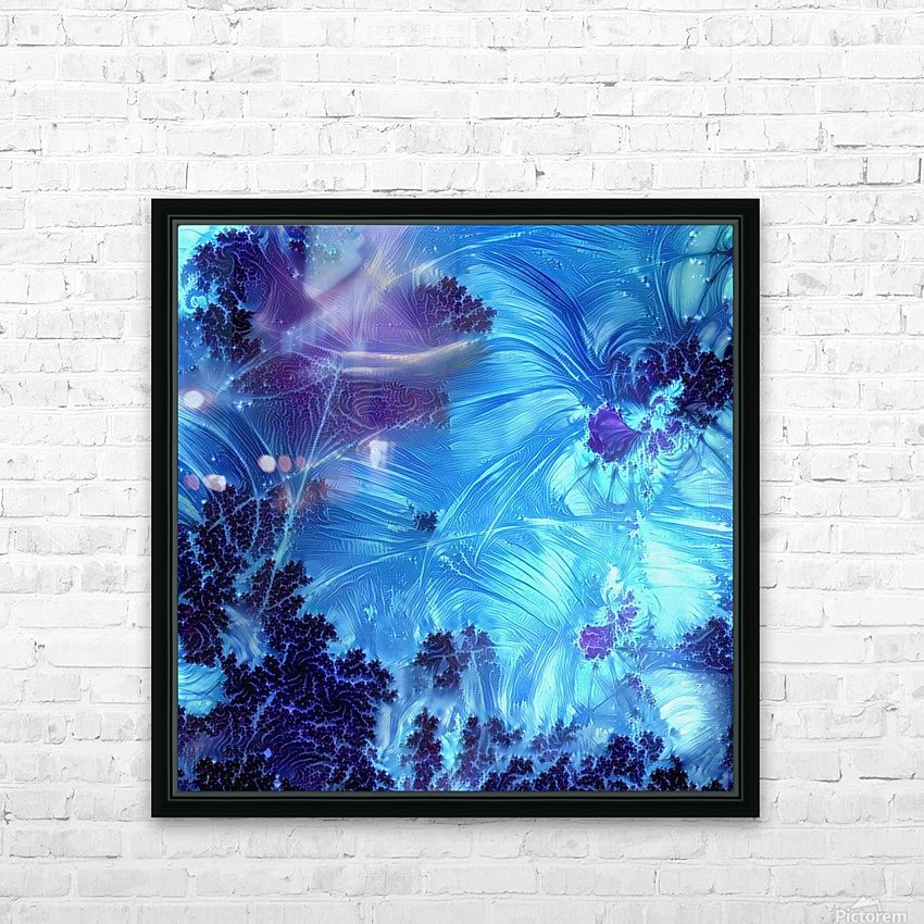 Abstract Blue Colors HD Sublimation Metal print with Decorating Float Frame (BOX)