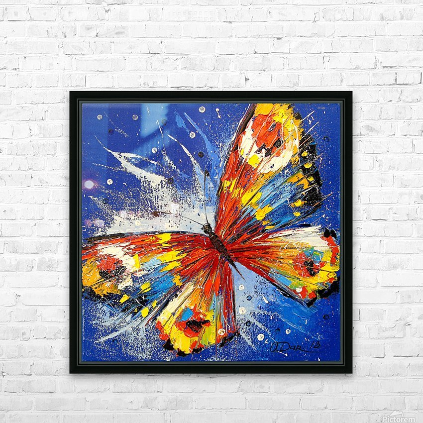 The butterfly HD Sublimation Metal print with Decorating Float Frame (BOX)