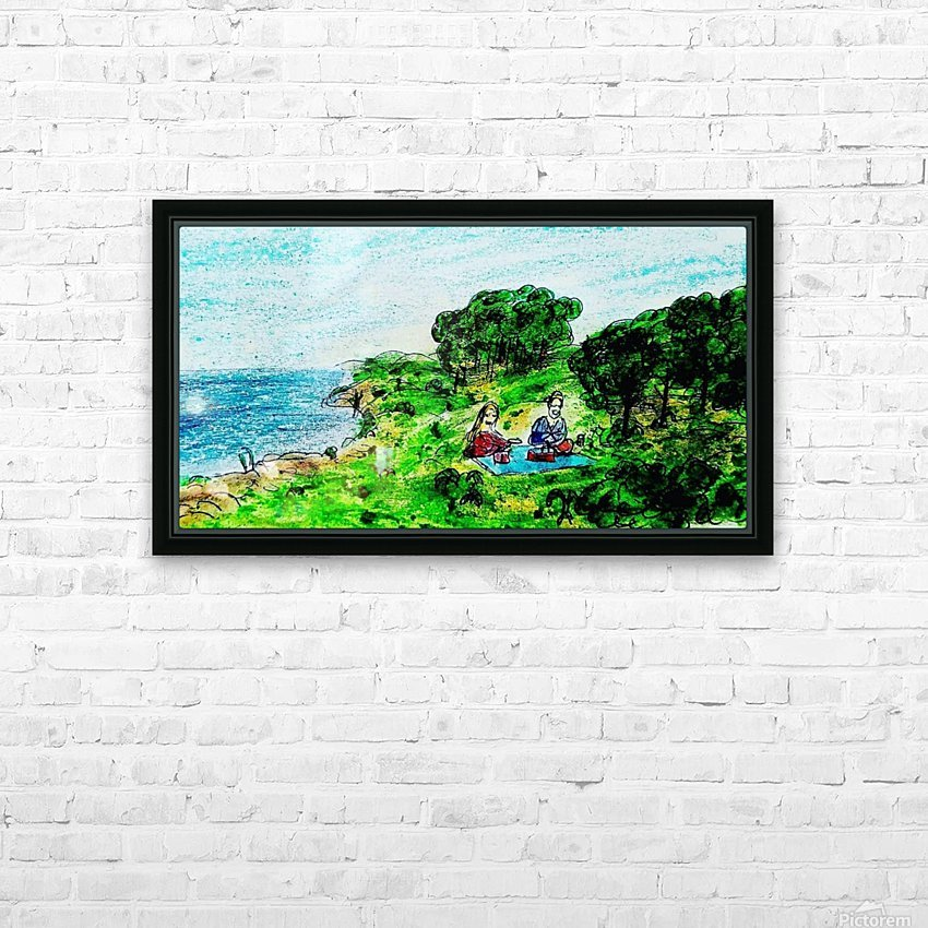 Picnic HD Sublimation Metal print with Decorating Float Frame (BOX)
