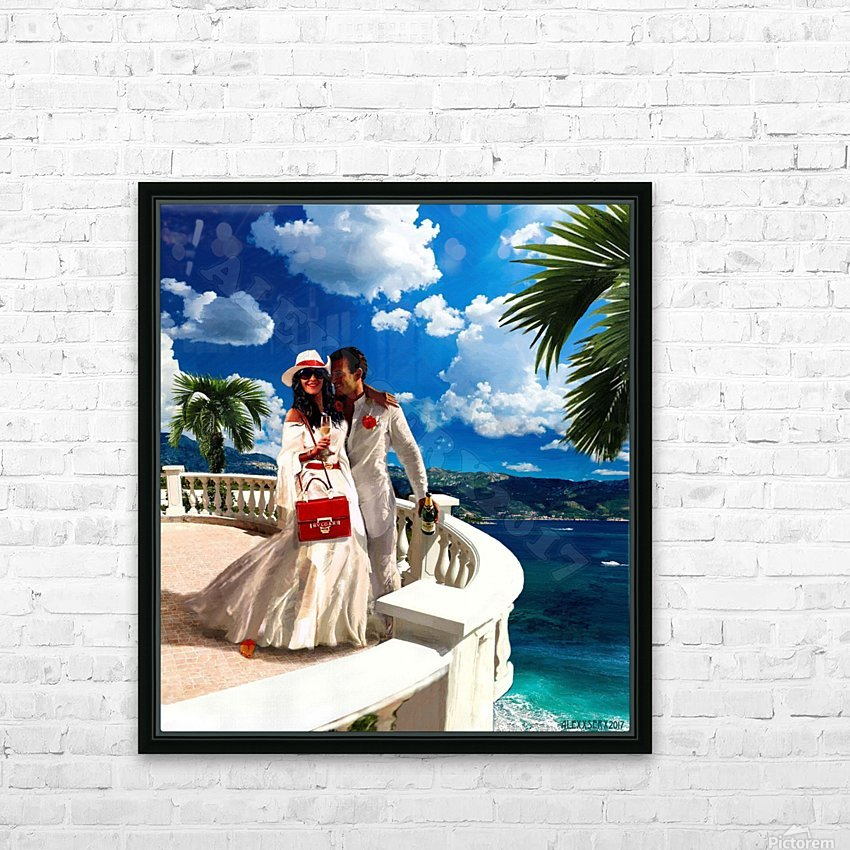 Napoletano russo HD Sublimation Metal print with Decorating Float Frame (BOX)