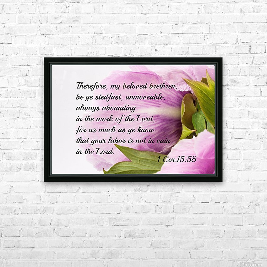 Be ye stedfast HD Sublimation Metal print with Decorating Float Frame (BOX)