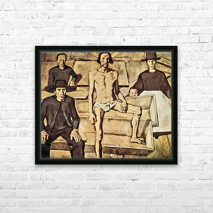Resurrection of Christ by Albin Egger-Lienz HD Sublimation Metal print with Decorating Float Frame (BOX)