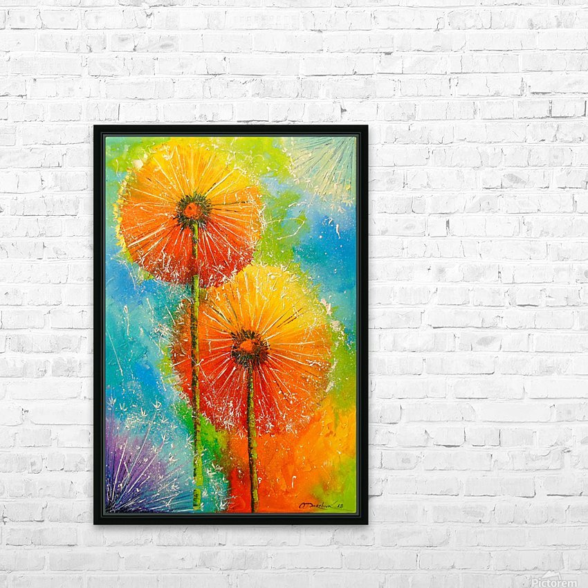 Dandelions HD Sublimation Metal print with Decorating Float Frame (BOX)