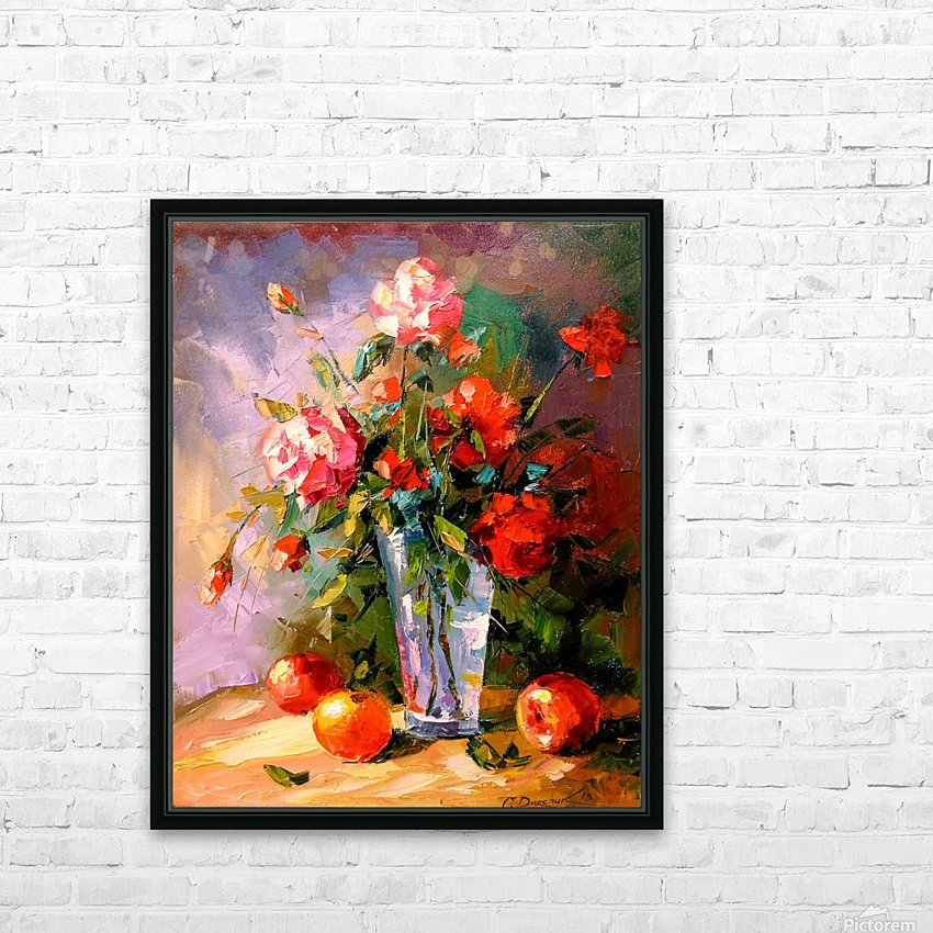 A bouquet of roses HD Sublimation Metal print with Decorating Float Frame (BOX)
