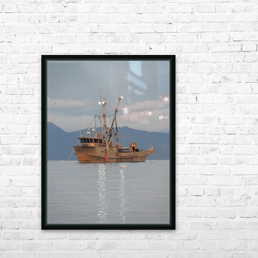 Lights on the Water HD Sublimation Metal print with Decorating Float Frame (BOX)