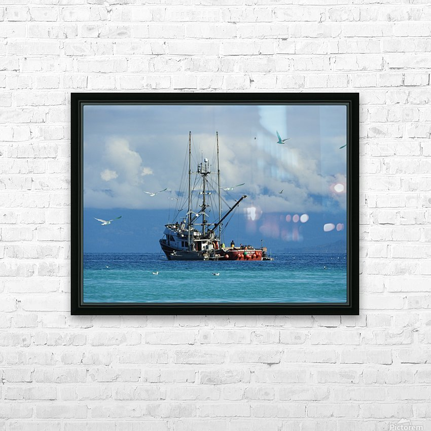 Aqua HD Sublimation Metal print with Decorating Float Frame (BOX)