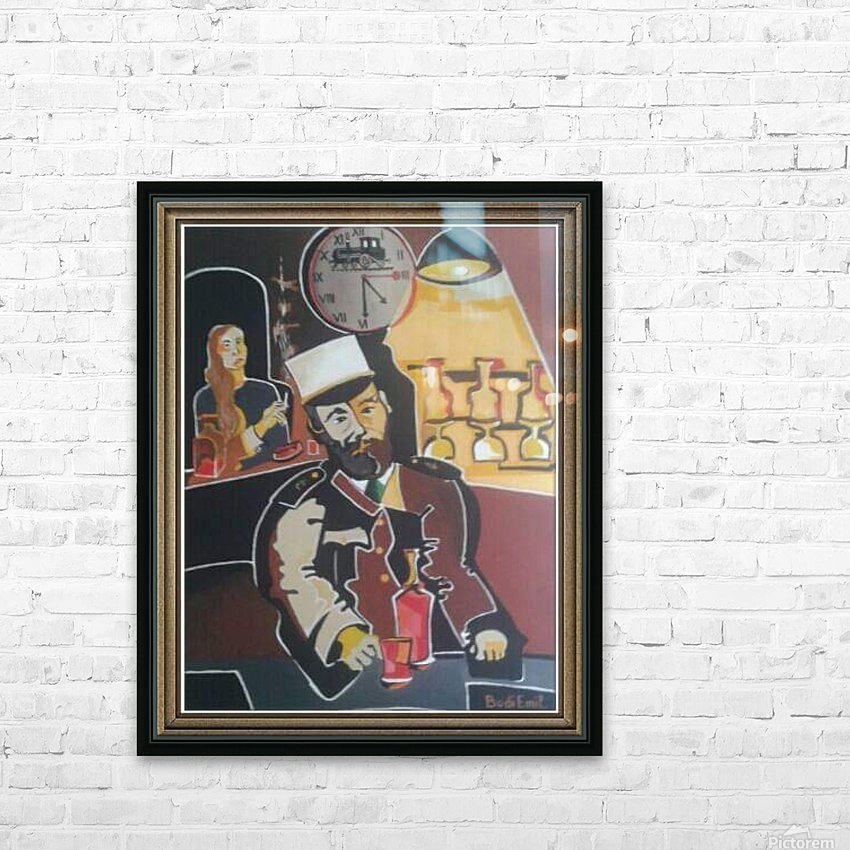 Pub from the train station HD Sublimation Metal print with Decorating Float Frame (BOX)