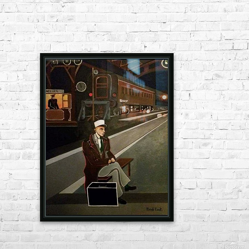 terminus de train HD Sublimation Metal print with Decorating Float Frame (BOX)