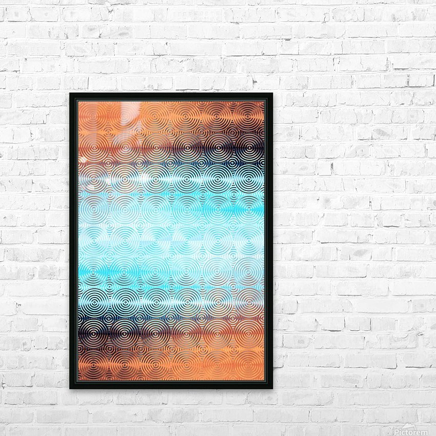 Geometric Pattern HD Sublimation Metal print with Decorating Float Frame (BOX)