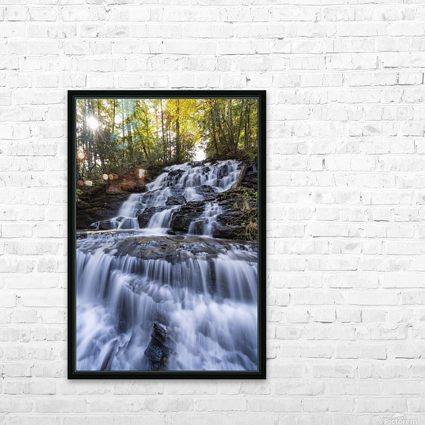 Trahlyta Waterfall HD Sublimation Metal print with Decorating Float Frame (BOX)
