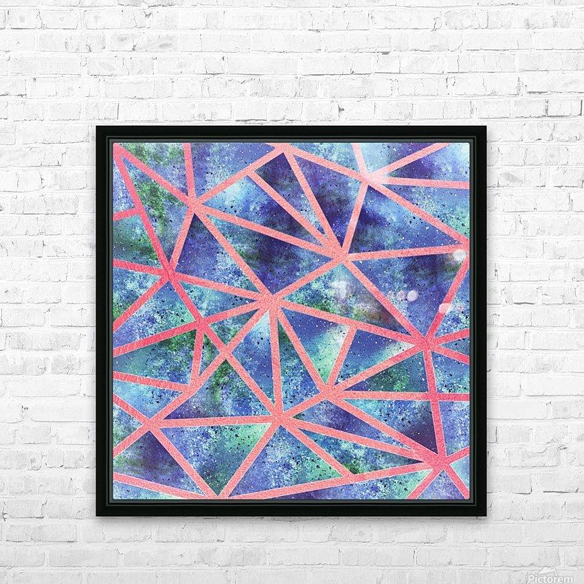 Geometric XXXIII HD Sublimation Metal print with Decorating Float Frame (BOX)