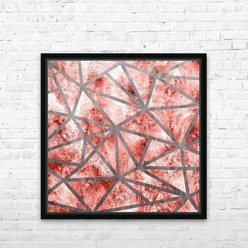 Geometric XXXV HD Sublimation Metal print with Decorating Float Frame (BOX)