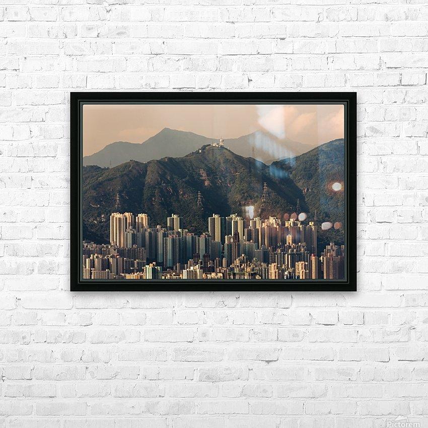 HONG KONG 06 HD Sublimation Metal print with Decorating Float Frame (BOX)