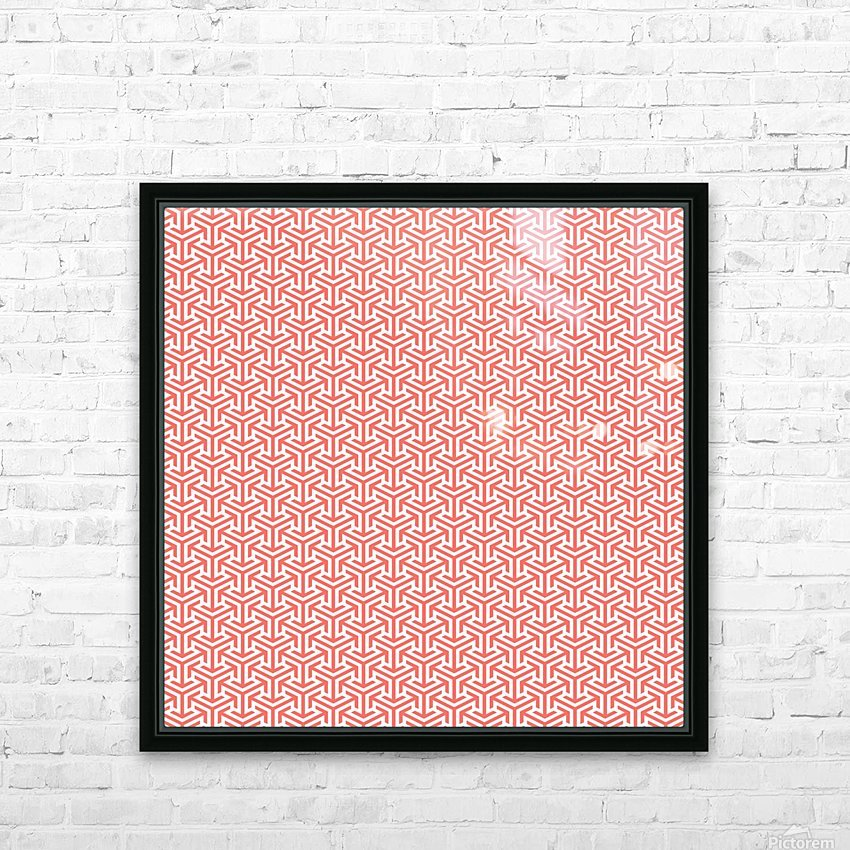 Living Coral Pattern IV HD Sublimation Metal print with Decorating Float Frame (BOX)