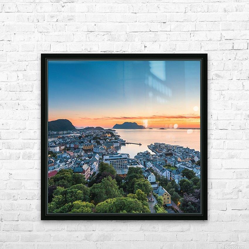 ÅLESUND 01  HD Sublimation Metal print with Decorating Float Frame (BOX)