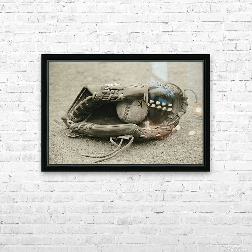 First Love 3 in Sepia HD Sublimation Metal print with Decorating Float Frame (BOX)