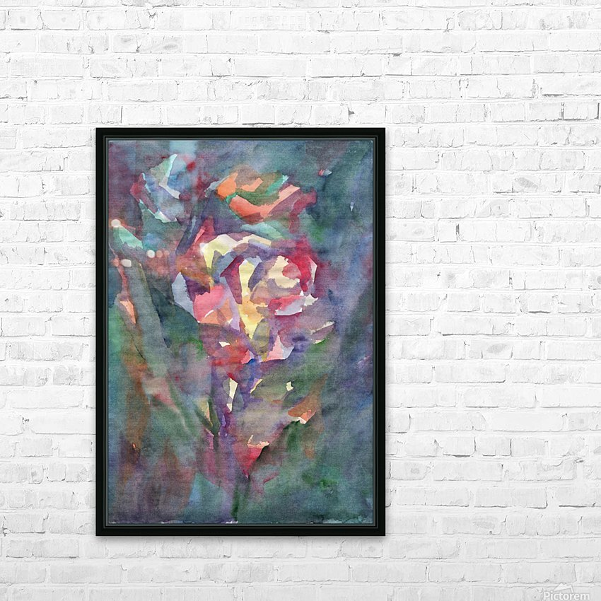 Rose blooming in the night HD Sublimation Metal print with Decorating Float Frame (BOX)