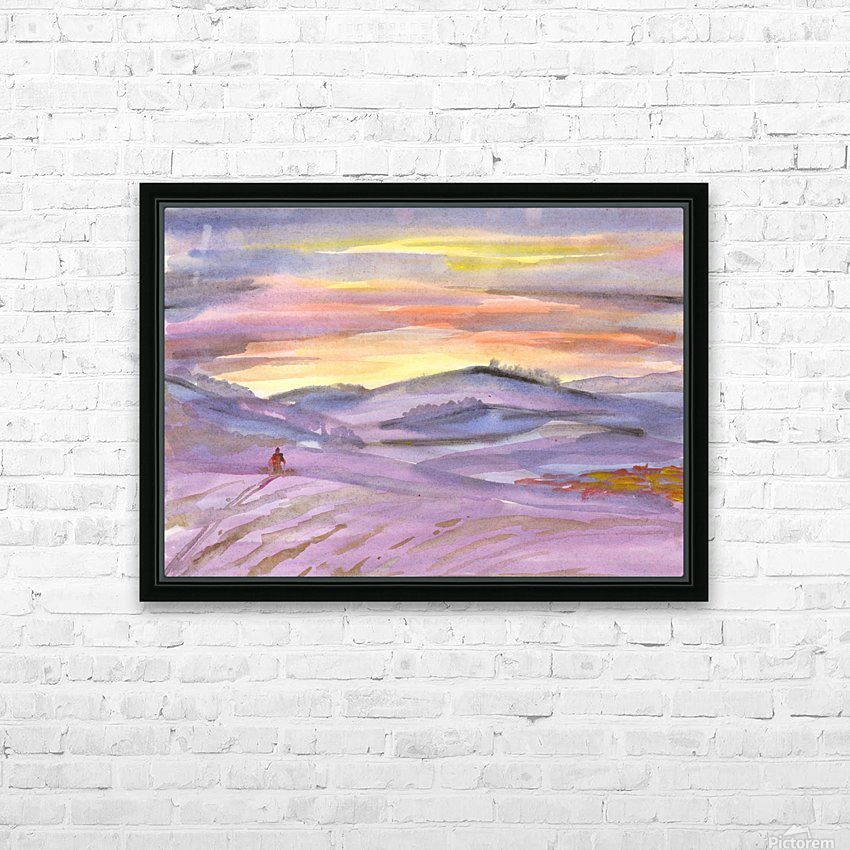 Sunset ski trip HD Sublimation Metal print with Decorating Float Frame (BOX)