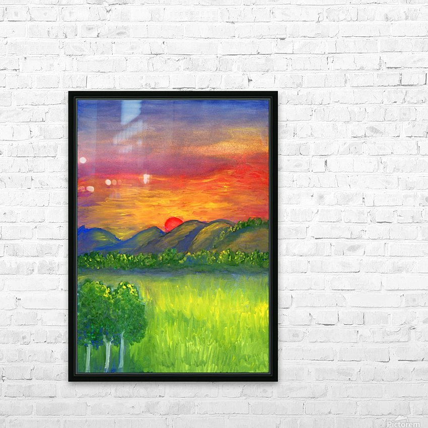 Mystical red sunset HD Sublimation Metal print with Decorating Float Frame (BOX)
