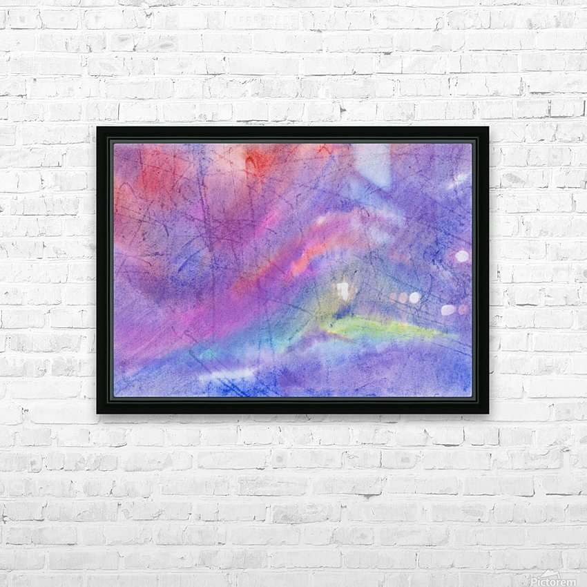 Abstract Mauve wave HD Sublimation Metal print with Decorating Float Frame (BOX)