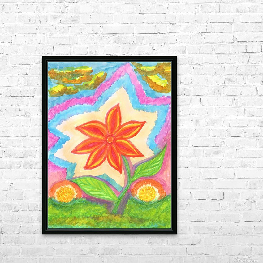 Magic scarlet flower  HD Sublimation Metal print with Decorating Float Frame (BOX)