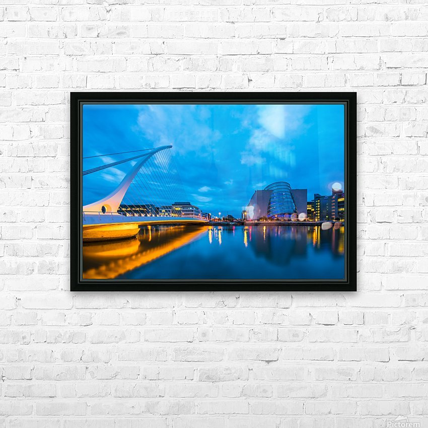 DUBLIN 01 HD Sublimation Metal print with Decorating Float Frame (BOX)