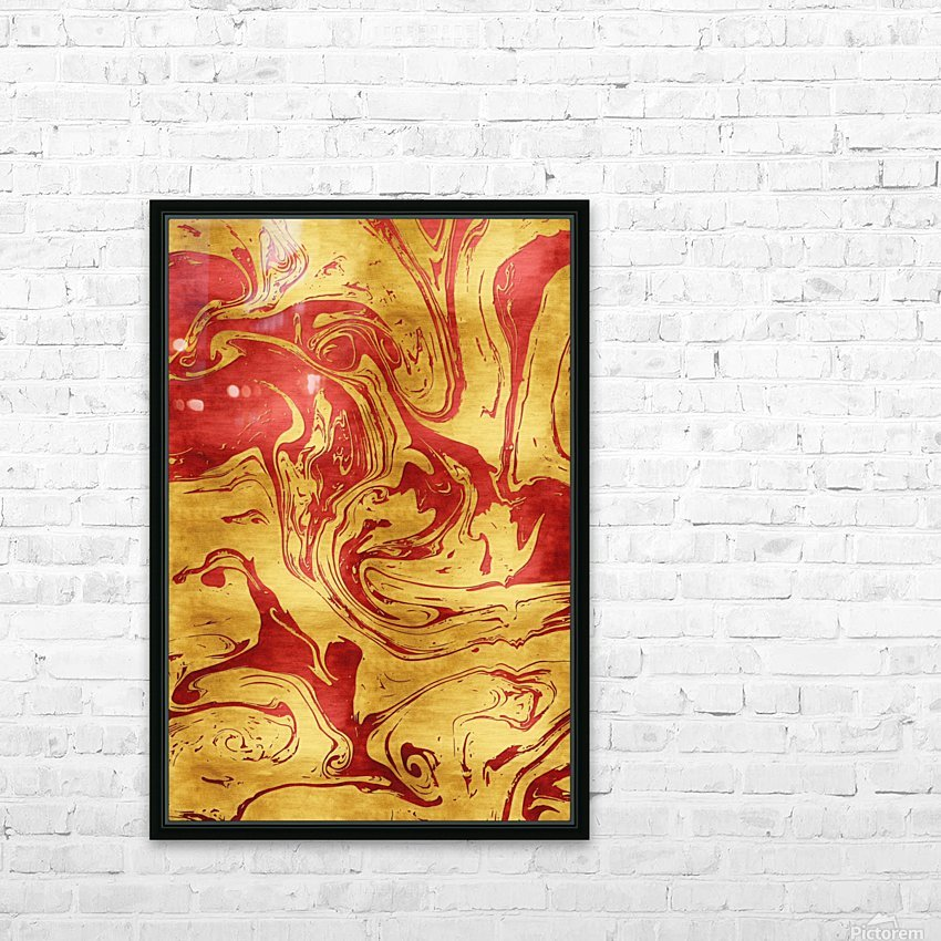 Red Dragon Marble HD Sublimation Metal print with Decorating Float Frame (BOX)