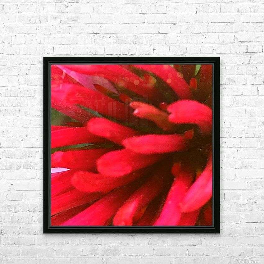 Red blossom  HD Sublimation Metal print with Decorating Float Frame (BOX)