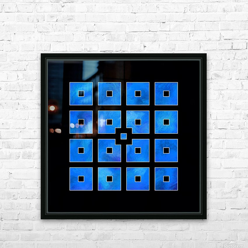 Elora de sous - squares of sea HD Sublimation Metal print with Decorating Float Frame (BOX)