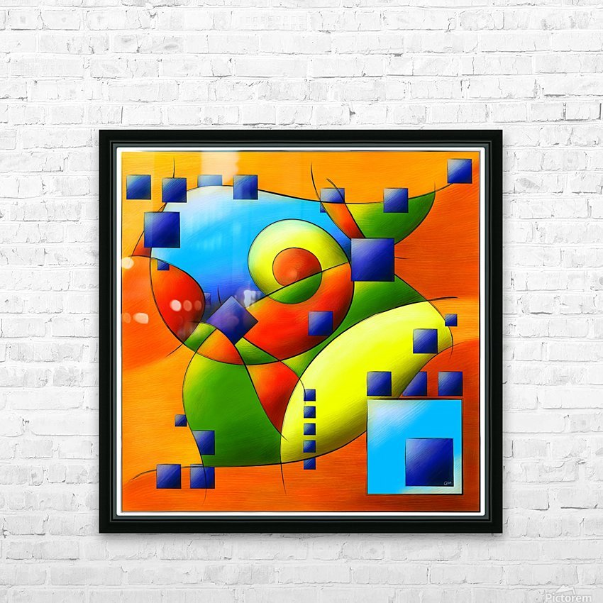 Fantisimella - colourful birdy abstract HD Sublimation Metal print with Decorating Float Frame (BOX)