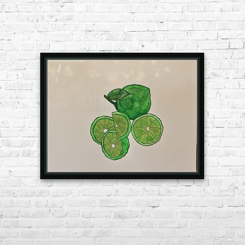 Lime in Szn  HD Sublimation Metal print with Decorating Float Frame (BOX)