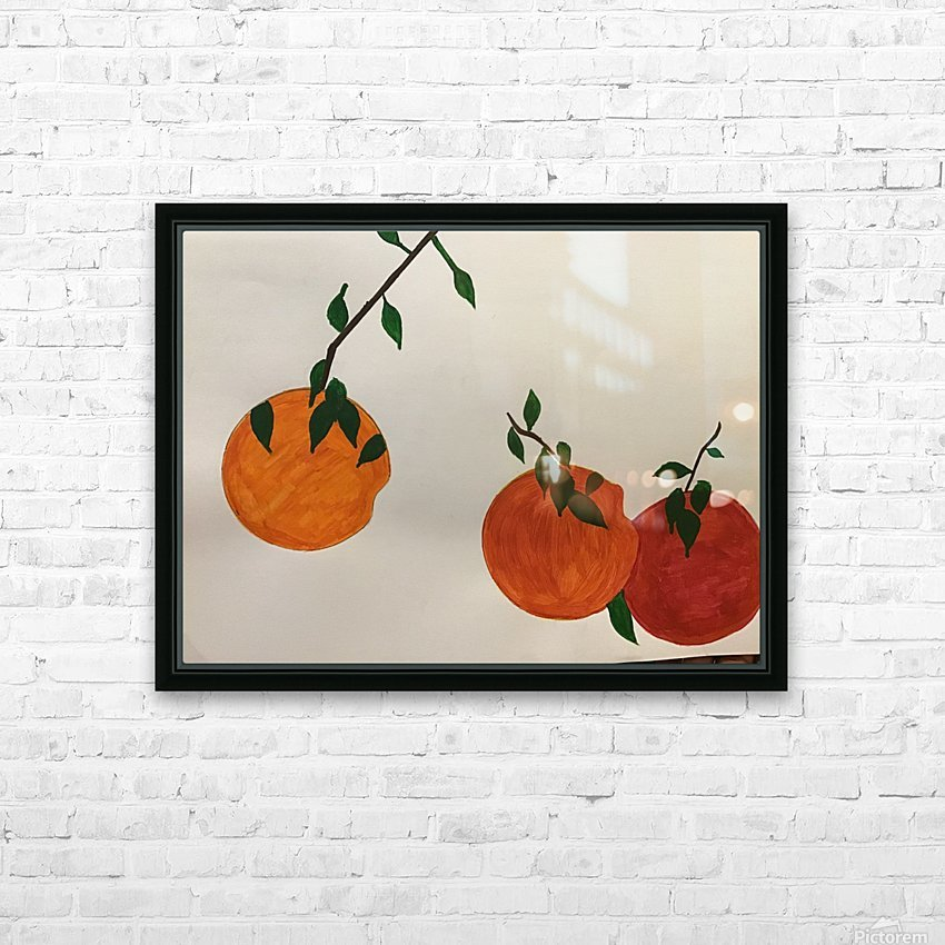 Orange You in Love HD Sublimation Metal print with Decorating Float Frame (BOX)