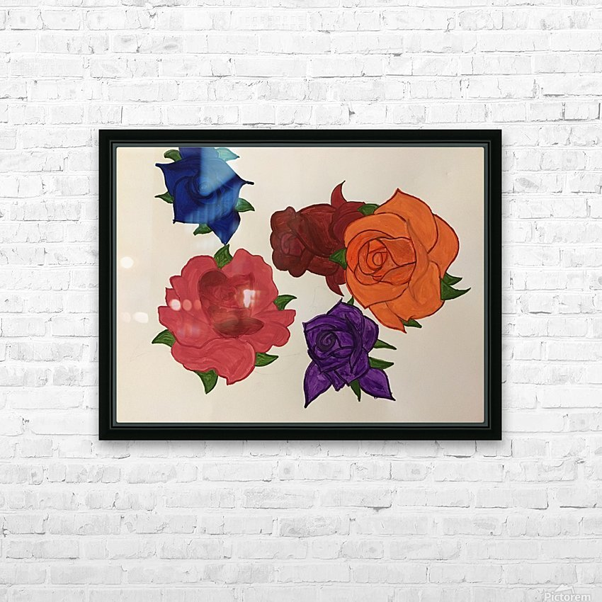 Diversity in Roses HD Sublimation Metal print with Decorating Float Frame (BOX)