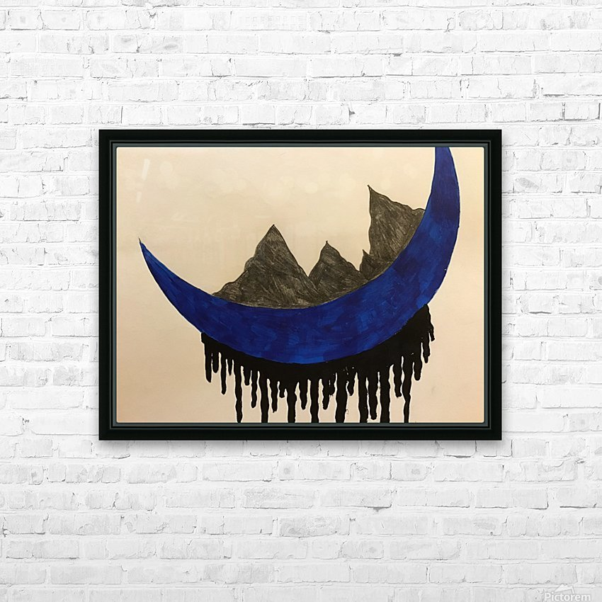Mountains on the Moon HD Sublimation Metal print with Decorating Float Frame (BOX)