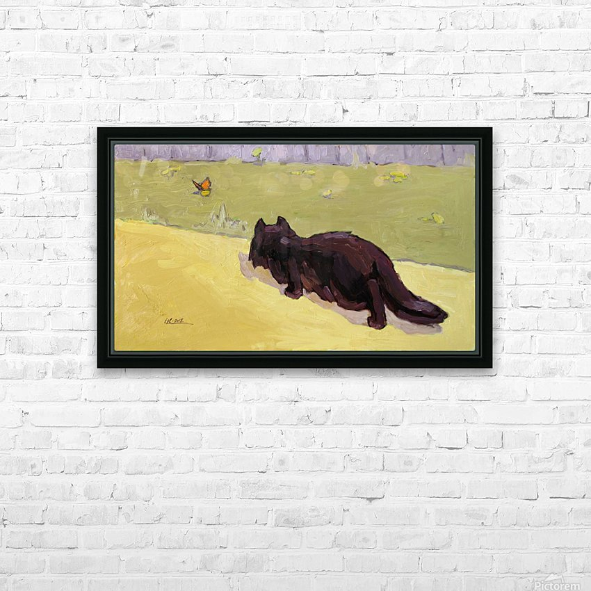 Cat and Butterfly HD Sublimation Metal print with Decorating Float Frame (BOX)