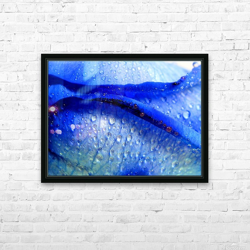 Blue Lips HD Sublimation Metal print with Decorating Float Frame (BOX)