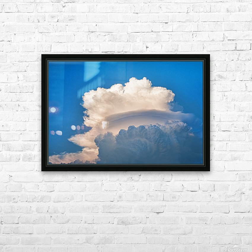 Atomic Cloud HD Sublimation Metal print with Decorating Float Frame (BOX)