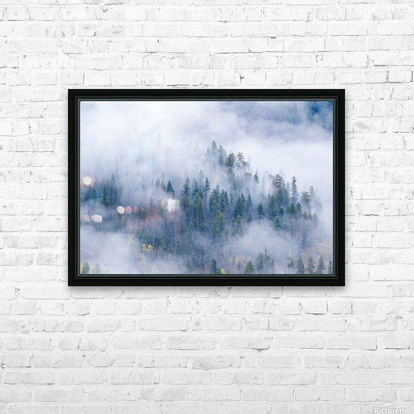 FOREST IN THE CLOUDS HD Sublimation Metal print with Decorating Float Frame (BOX)