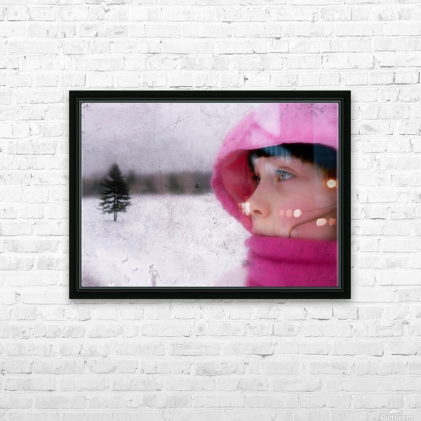 Winter pink HD Sublimation Metal print with Decorating Float Frame (BOX)