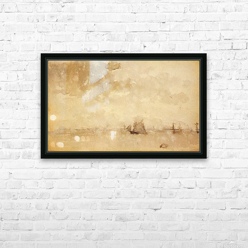 Seascape, a grey note by Whistler HD Sublimation Metal print with Decorating Float Frame (BOX)