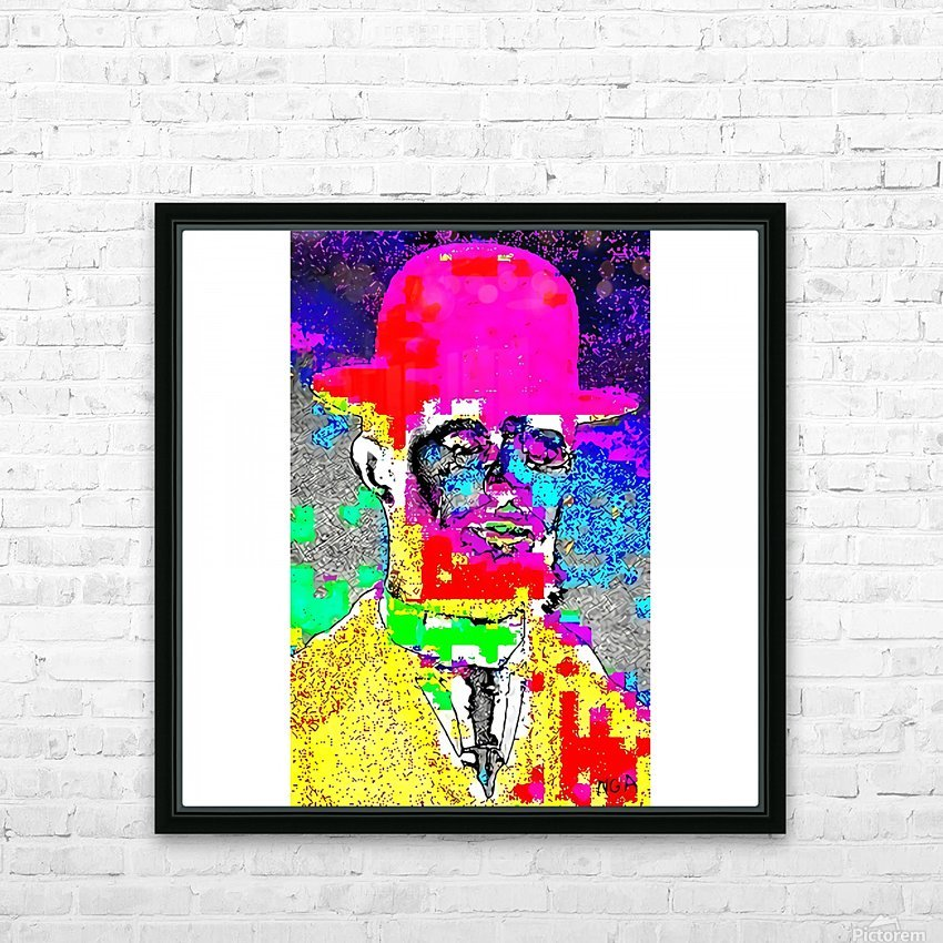Man with the Pink Bowler Hat by neil gairn adams  HD Sublimation Metal print with Decorating Float Frame (BOX)