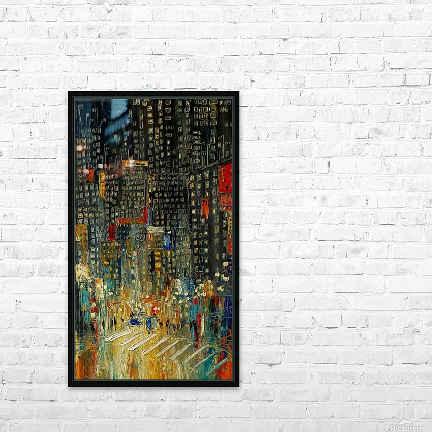 New York HD Sublimation Metal print with Decorating Float Frame (BOX)