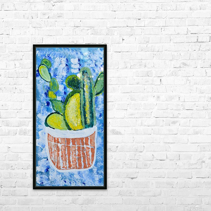 Bluebonnet cactus. Molly H HD Sublimation Metal print with Decorating Float Frame (BOX)
