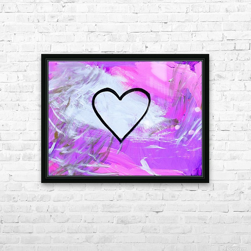 Love is a Feeling. Jessica B HD Sublimation Metal print with Decorating Float Frame (BOX)