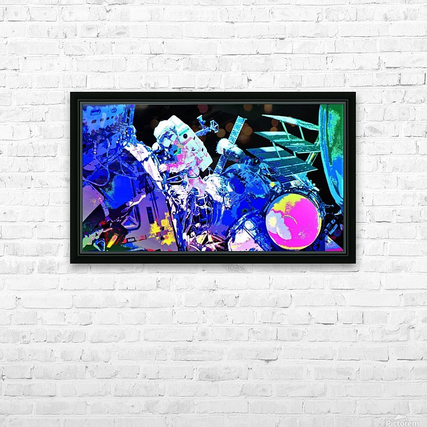 The Space Walker by Neil Gairn Adams HD Sublimation Metal print with Decorating Float Frame (BOX)