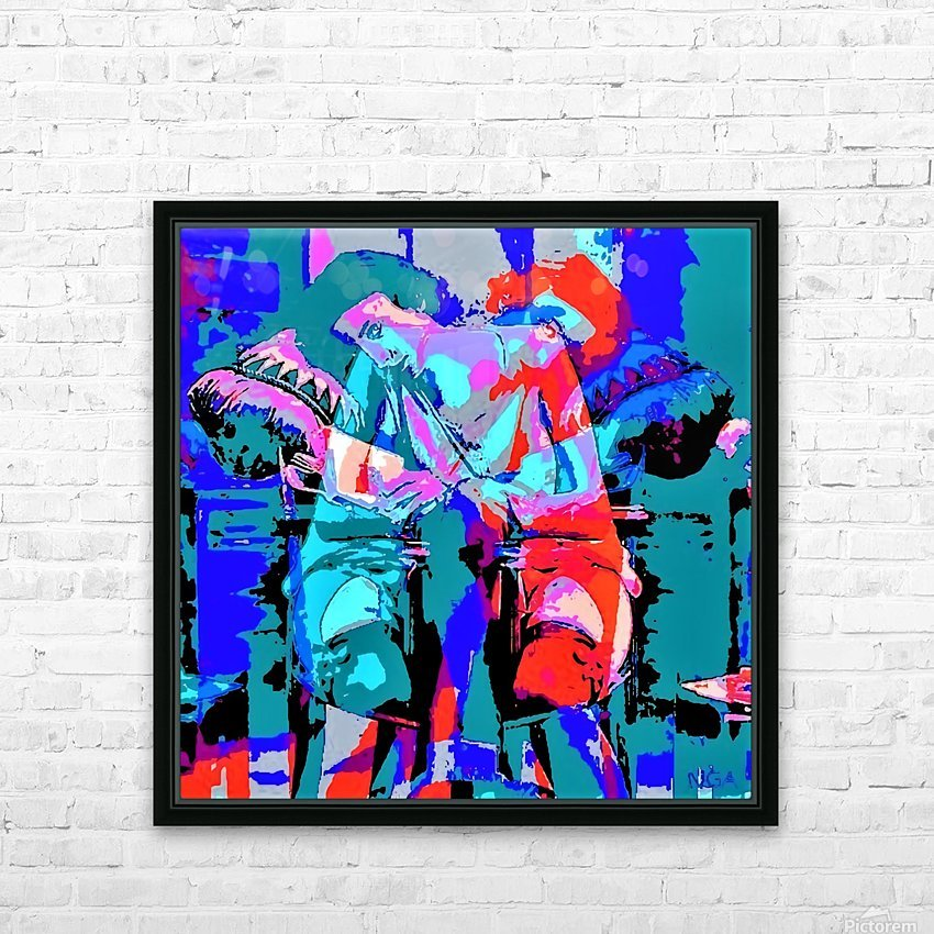 Best Friends - by Neil Gairn Adams HD Sublimation Metal print with Decorating Float Frame (BOX)
